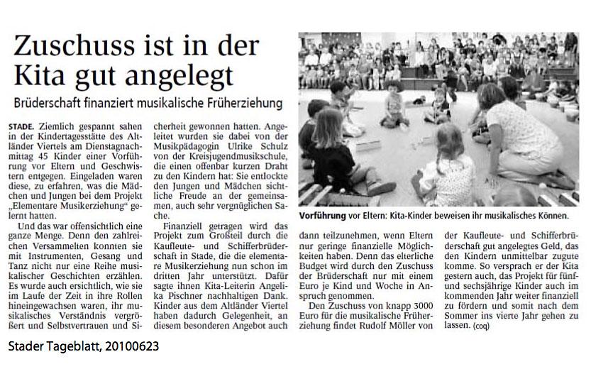 Presseartikel Stader Tageblatt 23.6.2010