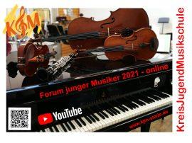 Plakat Forum junger Musiker 2021
